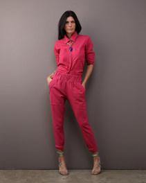 Camisa Envelope Linho Pink e Calça Alfaiataria Linho Pink