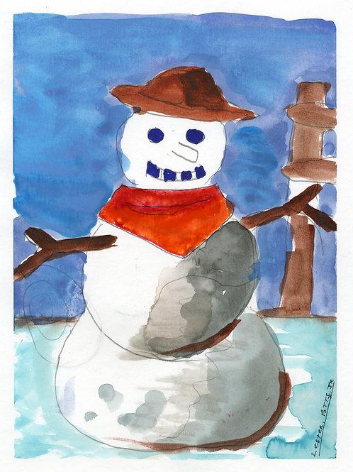 Frosty the Cowboy Snowman