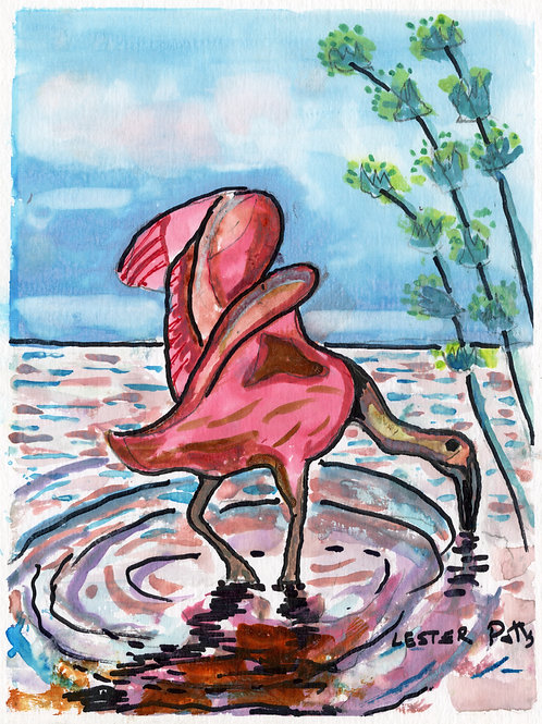 Flamingo at Dawn