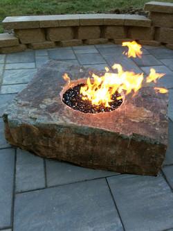 Fire boulder