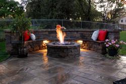 paver patio, fire pit