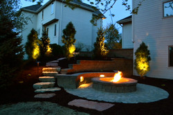 Omaha paver patio, retaining wall