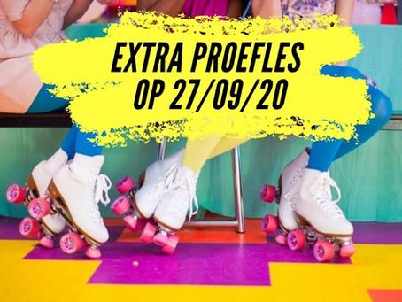 Extra proefles op 27/09/20