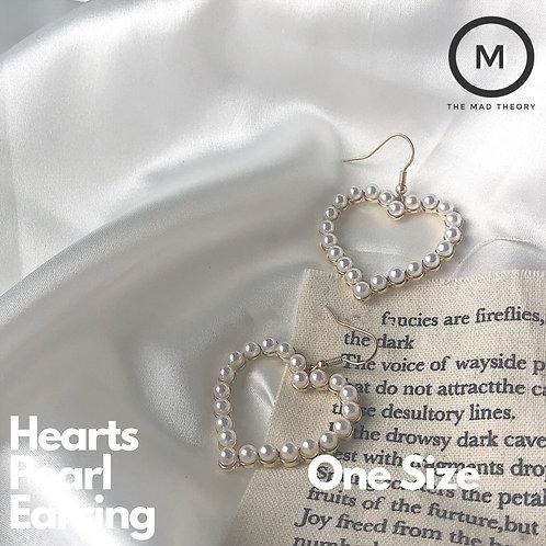 Hearts Pearl Earring