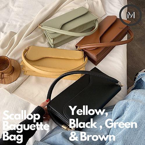 Scallop Baguette Bag