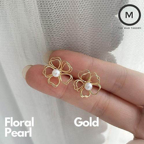 Pearl Floral Earring