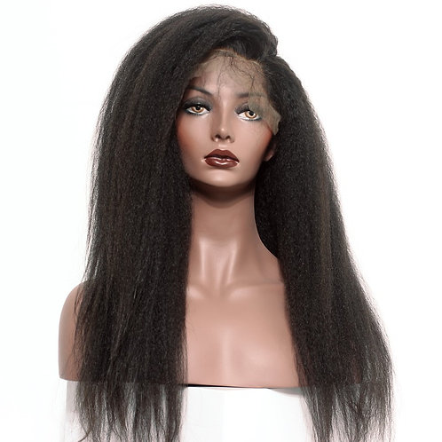 Kinky straight 360 lace front wig