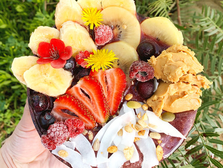 Peanut Butter Acai Bowl, bursting with fresh goodness, this makes for a great start to the day.