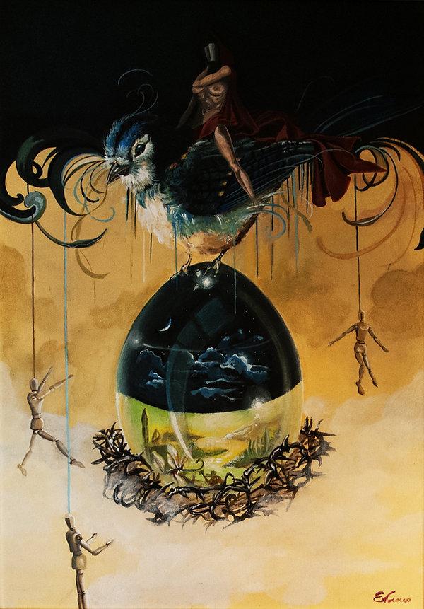 contemporany art, emanuela giacco, neosurrealismo, surrealismo, cosmogonia II