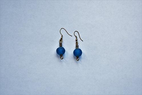 Frosted Blue Earrings