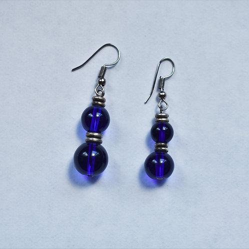 Blue Orb Earrings