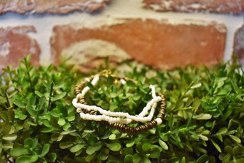 Gold & White Bracelet