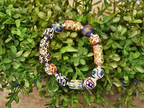 Painted Bead Bracelet