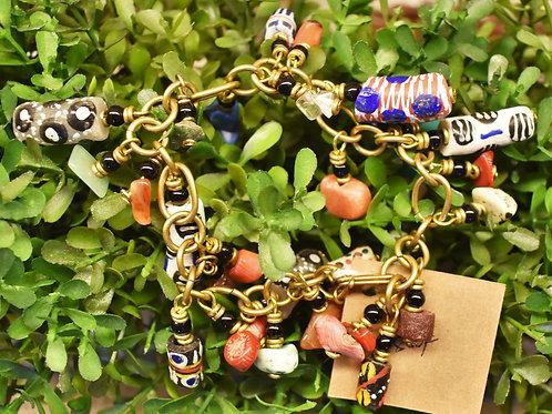 Painted Bead Charm Bracelet