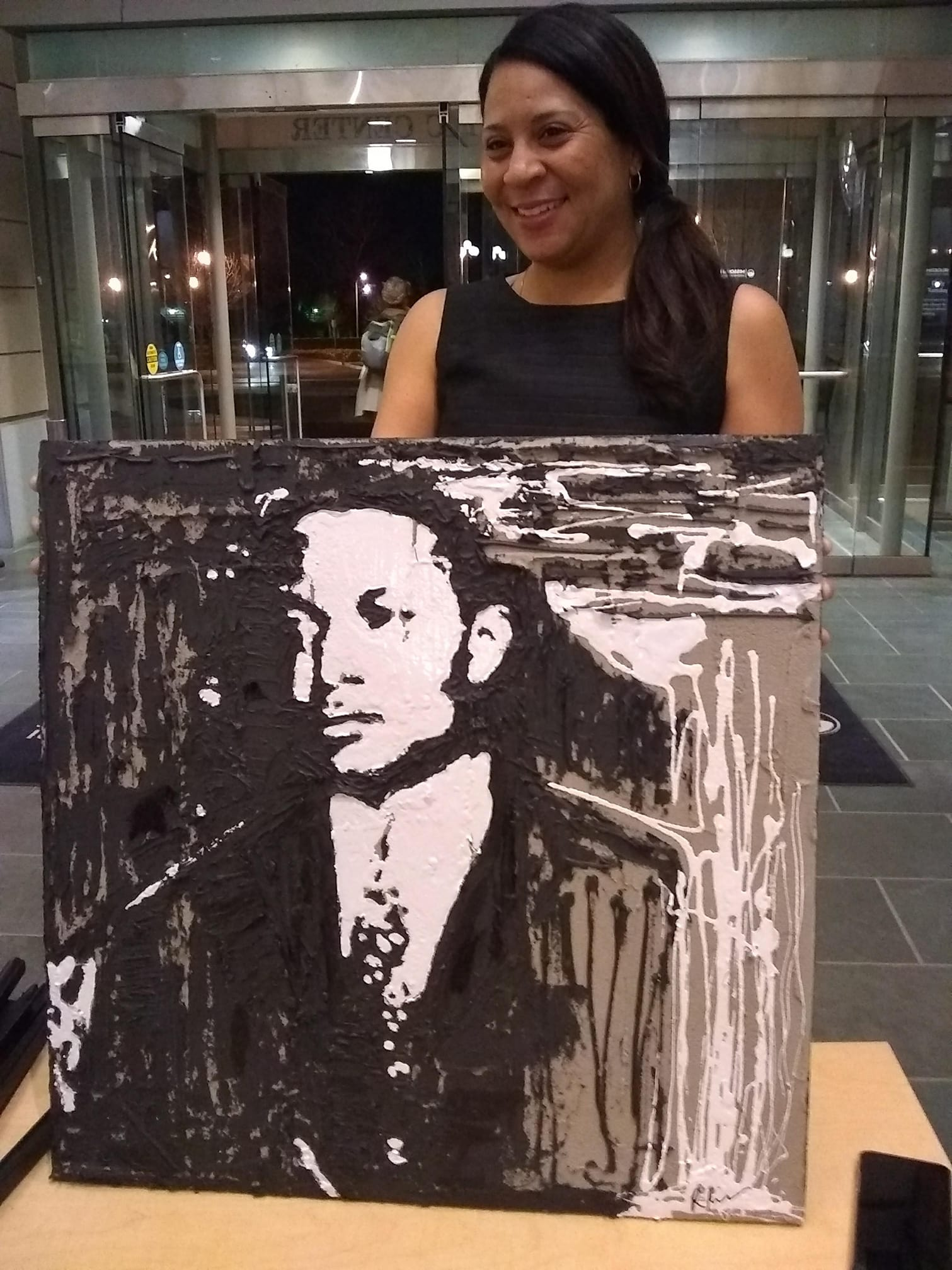 Rebecca and her portrait of H.G.P.