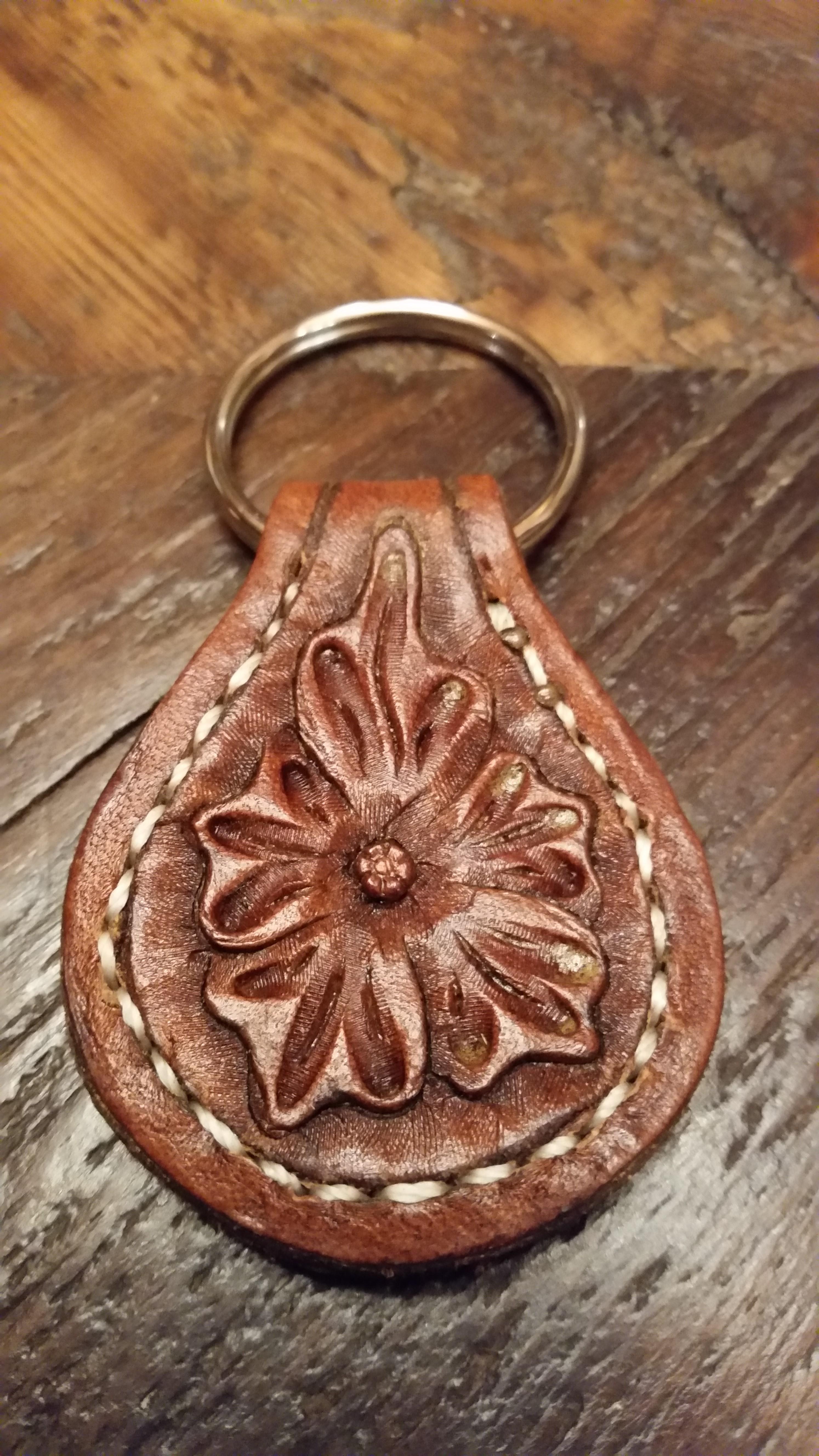 Western Floral key fob