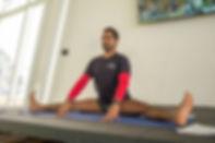 Mr. Tilak Raj, head yoga teacher and trainer of teachers at adapted yoga and pilates