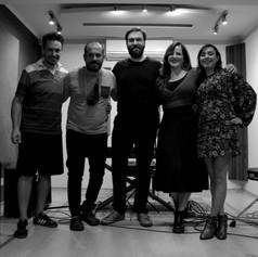 Grabando con Rosita, Pablo, en cámara Ariel Gaspardi y en audio Adrián Luzzi