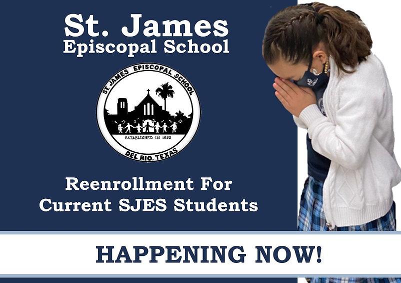 SJES Ad 20-21 reenrollment happening now