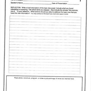 Guest Speaker Reflection Form