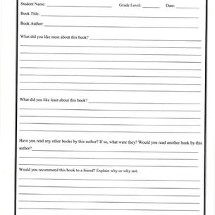 Reading Reflection Form