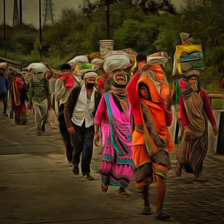 """महामारी के दिनों में ... अमितांशु चौधरी की """"कुछ पंक्तियाँ, अपने देश के प्रवासी मज़दूरों के नाम&q"""