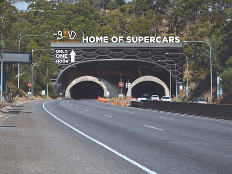 Massive Supercars-themed billboard to take over the Heysen Tunnels