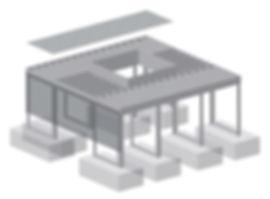 IFF 505, quadratischer Unterflurbaumrost mit wählbaren/flexiblen Abmessungen.
