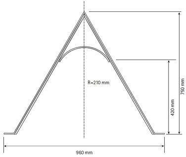 Design-Sperrbügel IFF 202 als Absperrbügel oder (Fahrrad-)Anlehnbügel