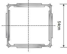 Grundriss quadratisches Baumschutzgitter IFF 303.