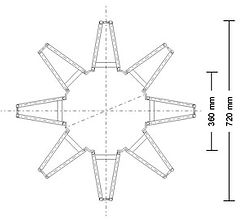 Grundriss Baumschutzgitter IFF 301 für Bäume mit geringem Stammumfang.