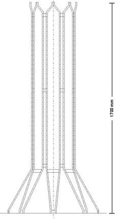 Ansicht Baumschutzgitter IFF 301 für Bäume mit geringem Stammumfang.