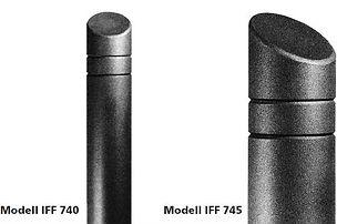 Absperrpfosten IFF 740 und 745 Detailansicht.