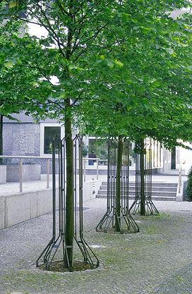 Baumreihe mit Baumschutzgitter IFF 301.