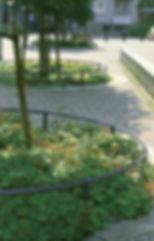 Rabattenbegrenzung IFF 801, als kreisrunde Pflanzbeet-Begrenzung.
