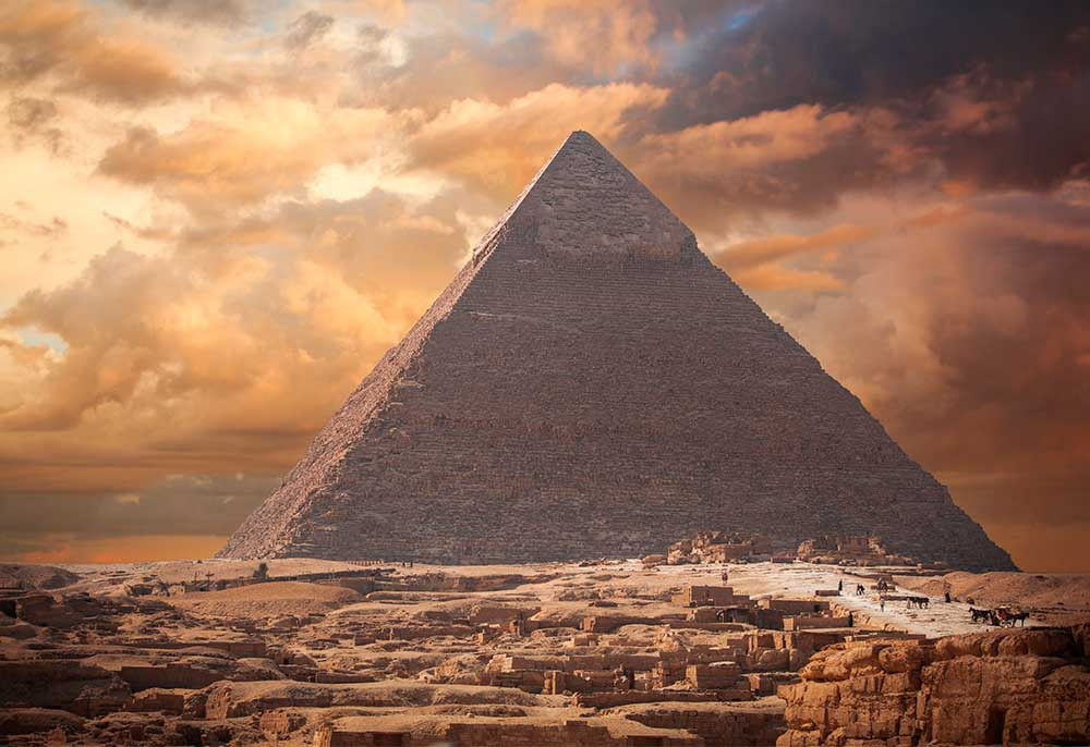 Arquitetura africana: pirâmide de Gizé