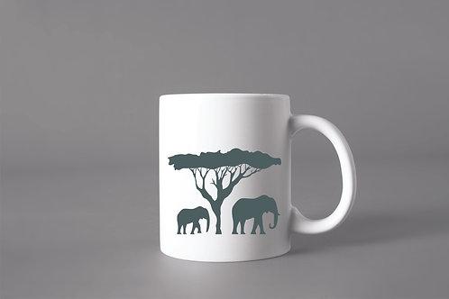 Caneca África Elefantes
