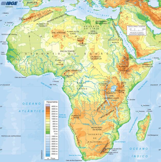 Relevo - África