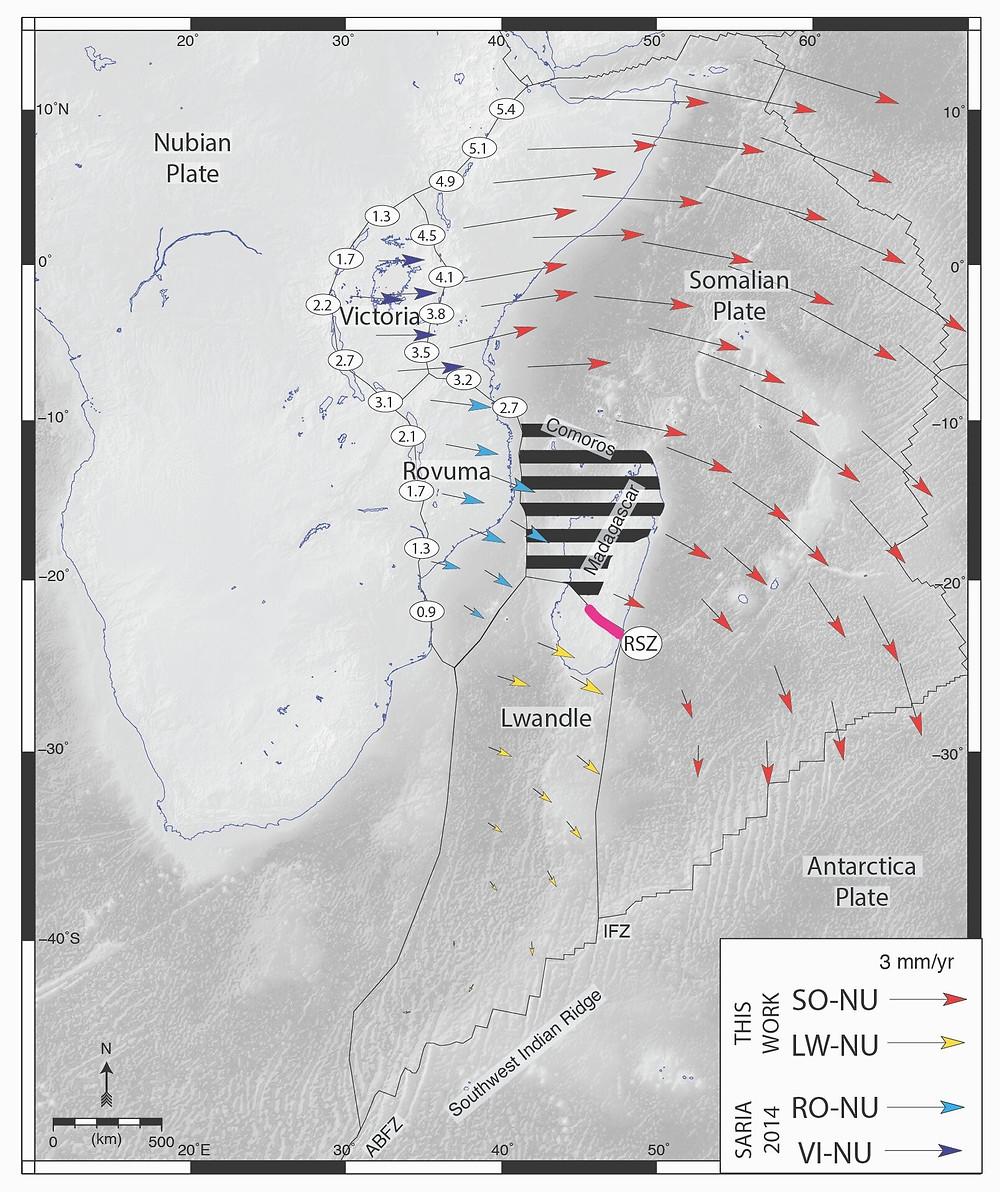 Divisão na placa tectônica da África é mais extensa do que se imaginava (Foto: D.S. Stamps)