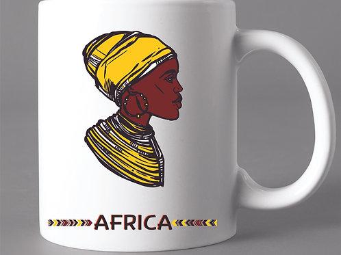 Caneca África Mulher