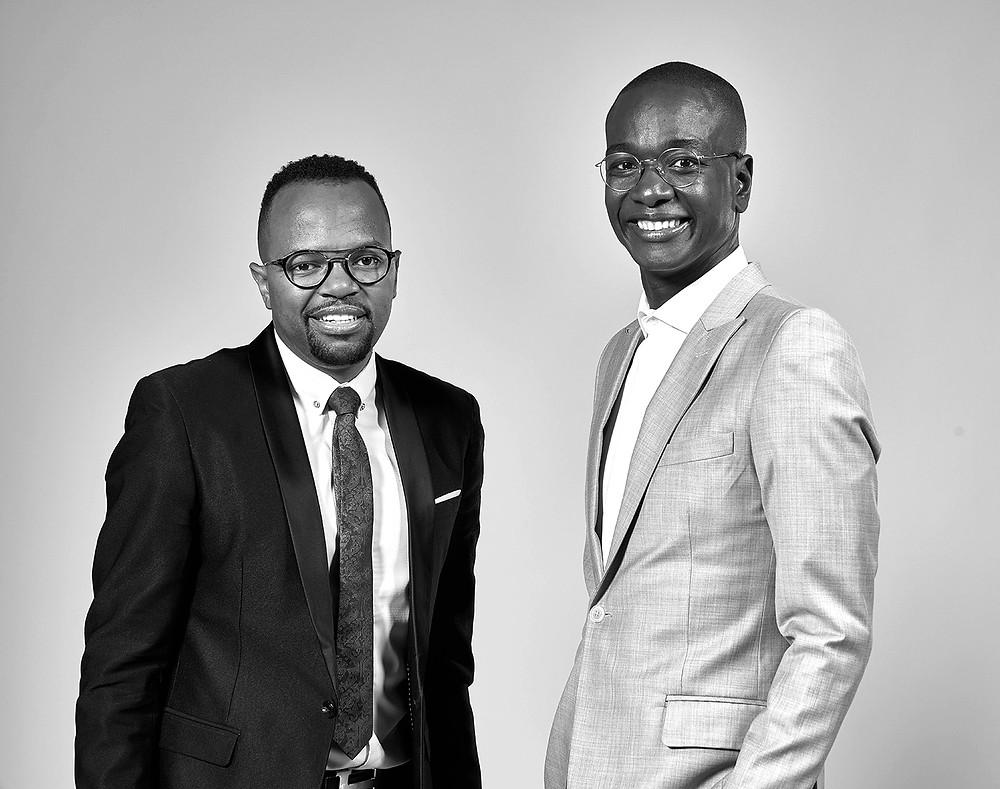 Zibusiso Mkhwanazi (à esquerda) e o cofundador Veli Ngubane
