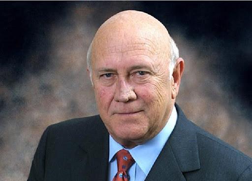 Frederik de Klerk 1993 Nobel da Paz Africa do Sul