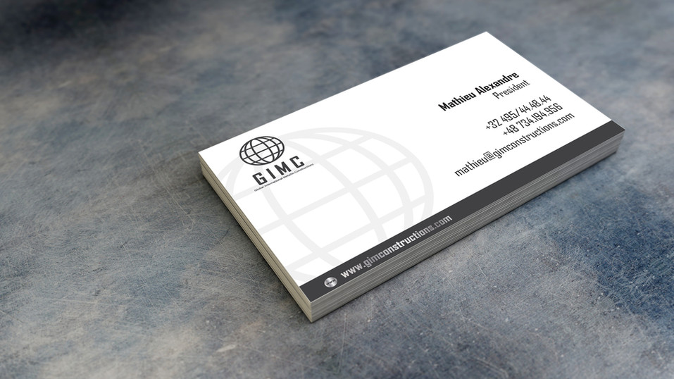 GIMC business card - visualisation FRONT