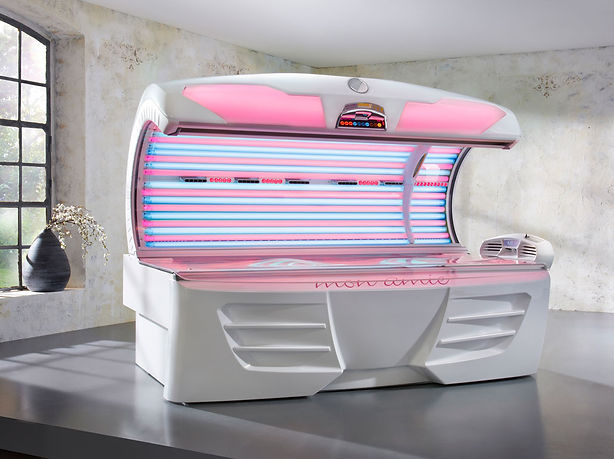 Mon Amie KBL Collarium LED red-light collagen boosting tanning bed, healthy radiant skin