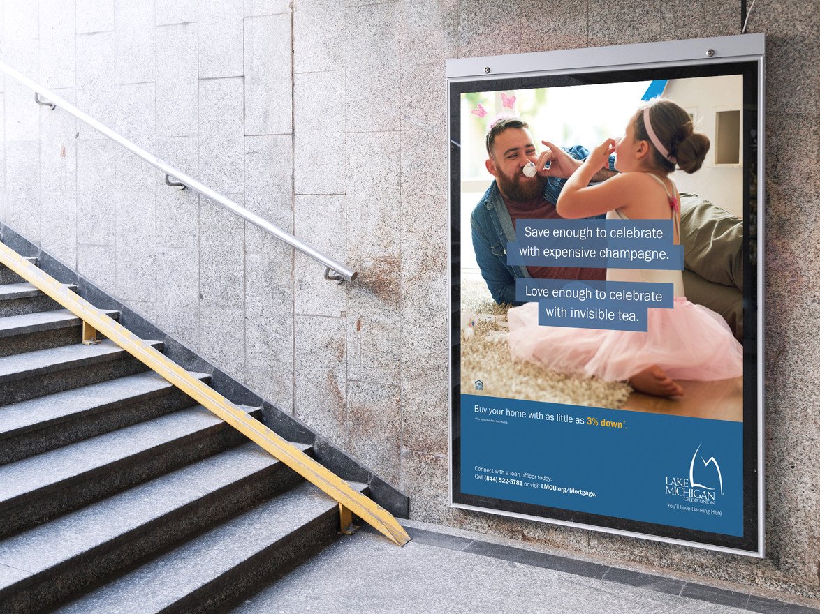 """LMCU """"Roof over your heart"""" Mortgage Campaign Poster"""