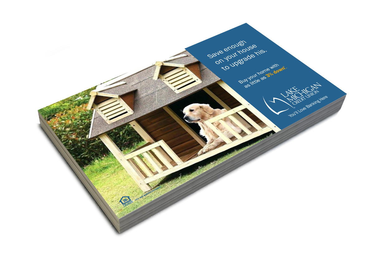 """LMCU """"Roof over your heart"""" Mortgage Campaign Postcard"""