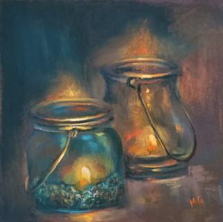 MonikaGuptaArtist_CandleLightPair_Pastel