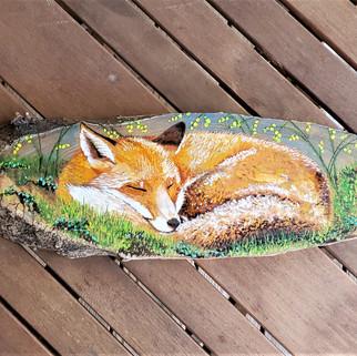 Sleeping Fox (gouache)