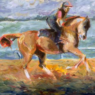 Jockey cantering:Keeneland.jpg