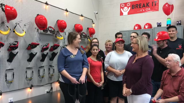 Ribbon Cutting: Break It